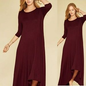 Dresses & Skirts - 🌟New Arrival 3/4 Sleeve High-Low Maxi Dress🌟